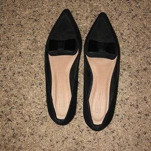 Black Flats with bows